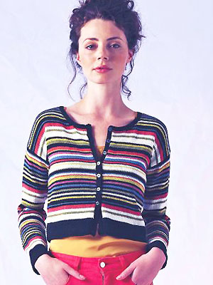 Knit A Cropped Striped Cardigan Free Cardigan Knitting Pattern