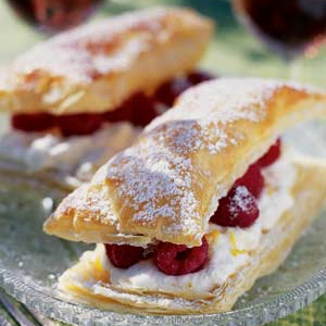 Raspberry And Lemon Cream Slice Recipe A Quick Easy Dessert On The Food Channel Of