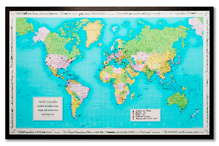 Top 12 christmas gifts for globetrotters christmas gift ideas personalised world map top 10 christmas travel gifts christmas gift ideas country gumiabroncs Image collections