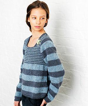 0aaafa408 Knit a teen s stripy jumper    free knitting pattern    sweater ...