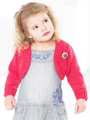 Knit A Little Girls Shrug Free Knitting Patterns Uk