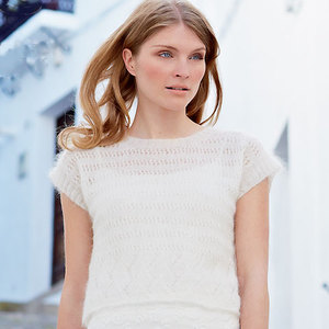 PR Rowan Divinity lace top to knit - Free knitting patterns - Craft - allaboutyou.com