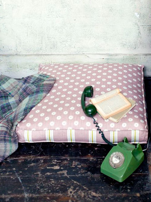 Sew a floor cushion :: Great British Sewing Bee free pattern :: free ...