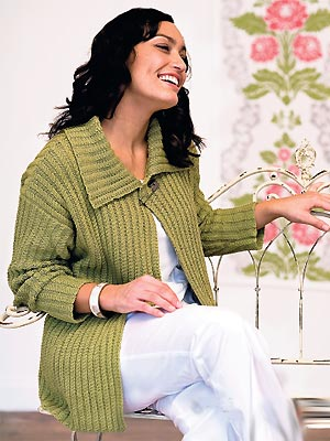 Knit A Plus Size Twisted Rib Cardigan Free Knitting Patterns