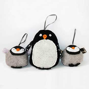 penguin family decorations notonthehighstreetcom penguin christmas decorations uk homes allaboutyou
