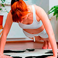 Woman push ups at home - exercise plan - diet & wellbeing - allaboutyou.com