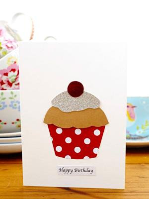 Make A Cupcake Birthday Card Handmade Cards Allaboutyou