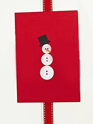 Make A Button Snowman Christmas Card Christmas Craft Ideas Make Christmas Cards Allaboutyou Com