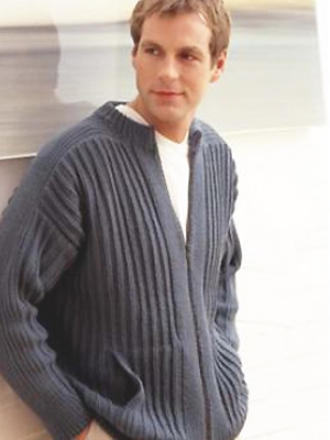 PR Man's zipped jacket to knit, from Rowan - Free knitting patterns - Craft - allaboutyou.com