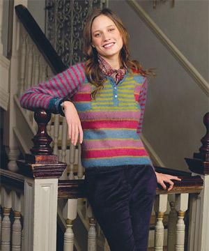 8d15e51f85be Knit a multi-stripe sweater    free knitting pattern    sweater ...