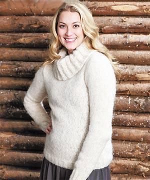 Knit a polo-neck sweater    free knitting pattern    sweater ... 3da5a528c
