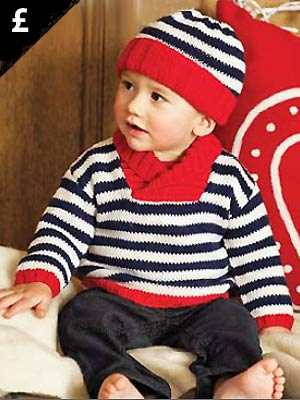 Knit A Boys Shawl Collared Jumper And Hat Free Pattern