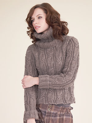 Knit A Cable Poloneck Sweater Free Knitting Pattern Sweater