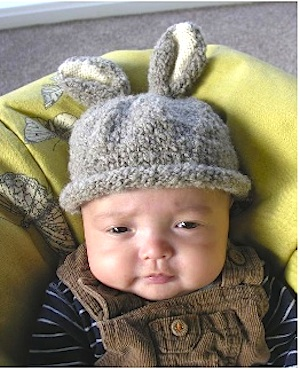 PR baby's rabbit beanie hat to knit - Free knitting patterns for babies - Craft - allaboutyou.com