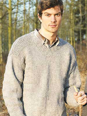 6452eb2d839390 Knit a men s V-neck sweater    free knitting pattern    knitting for ...