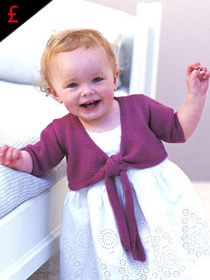 Knit a baby\'s tie-front shrug: pattern to buy :: allaboutyou.com