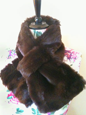 faux fur stole to sew