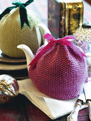Make A Moss Stitch Tea Cosy Free Knitting Patterns Craft Ideas