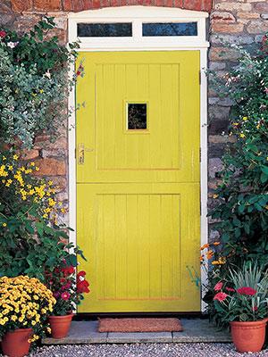 Mustard Coloured Front Door Paint   Front Door Colours   UK Home Decor  Ideas   Homes