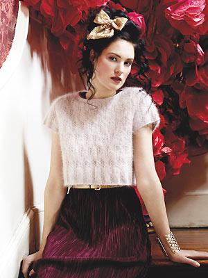 01f7689a0 Knit a cropped angora top    Free knitting pattern    UK knitting ...