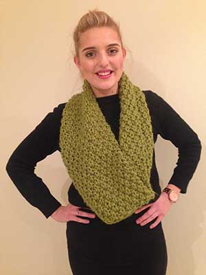 moss-stitch snood to knit - Free knitting patterns UK - Craft - allaboutyou.com