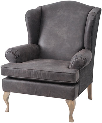 Attractive Grey Leather Armchair, Alexander U0026 Pearl   Christmas Living Room Ideas    Christmas Armchairs