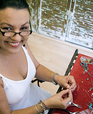 Getty - woman making jewellery - Make your own jewellery - Craft - allaboutyou.com