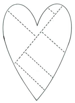 Sew a memory heart free sewing pattern valentines for Heart template for sewing