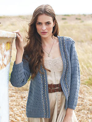PP jun13 Knit a beaded eyelet jacket - Free knitting patterns for women - Craft - allaboutyou.com
