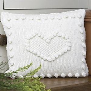 Knit a bobbled heart cushion: free knitting pattern:: Free ...