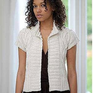 Knit a cap-sleeve cardi: free knitting pattern :: allaboutyou.com