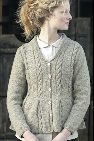 Knit a peplum jacket with cable detail :: free knitting patterns ...