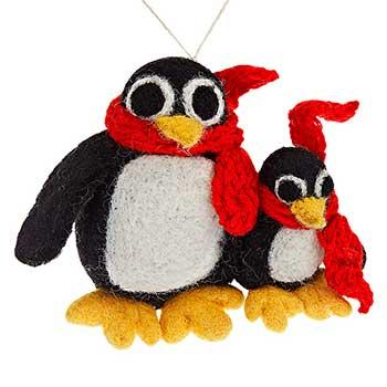 felt penguins tree decoration john lewis penguin christmas decorations uk homes allaboutyou