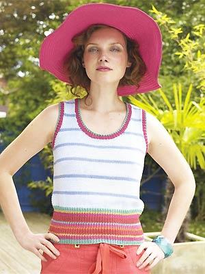 Knit A Stripy Vest Free Pattern Uk Knitting Patterns
