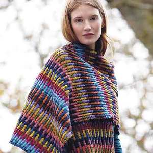 PP oct 13 colourful scarf wrap to knit - Free knitting patterns - Craft - allaboutyou.com