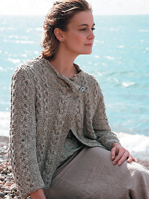 Cable wrap jacket knitting pattern :: Free knitting pattern ...