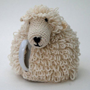 Crochet kit to make a sheep tea cosy
