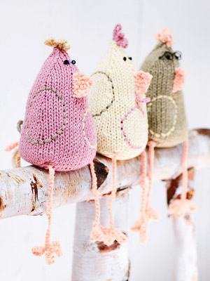 Knit Three Easter Chicks Free Knitting Patterns Easter Craft