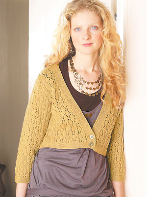 knit lacy cropped cardigan
