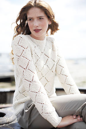 Knit A Diamond Lace Sweater Free Knitting Pattern Sweater