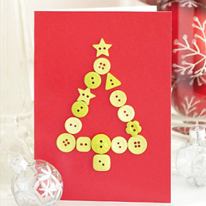 Make A Button Christmas Tree Card Christmas Craft Ideas Make