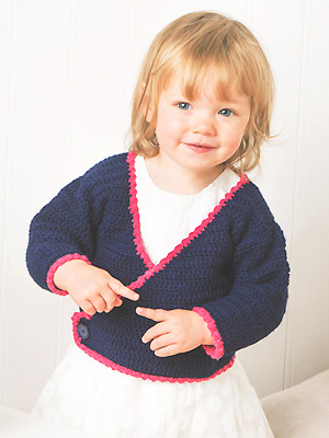 c0a680be1f46 Crochet a little girl s wrapover cardigan    Free crochet pattern ...
