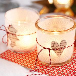 frosted glass christmas tea lights make christmas tea light holders christmas table decorations