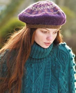 PP Fair Isle beret to knit - Free knitting patterns - Craft -  allaboutyou.com 9027bd50e11