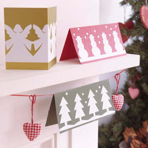 Make Paper Cut Out Christmas Cards Christmas Cards To Make