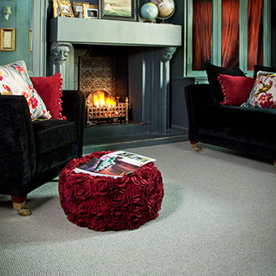 Dotted Carpet In Purple And Red
