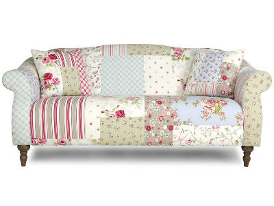 Charmant Patchwork Floral And Striped Sofa, DFS   Floral Patterned Sofas   Living  Room Furniture