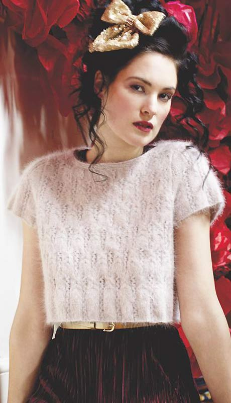 Knit A Cropped Angora Top Free Knitting Pattern Uk Knitting
