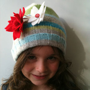Woolly hat from an old jumper to sew - recycling old clothes - free sewing pattern - sewing patterns for kids - Craft - allaboutyou.com