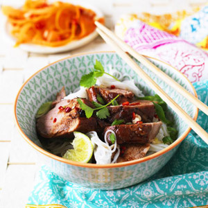 Caramelised pork noodles recipe - food channel - allaboutyou.com